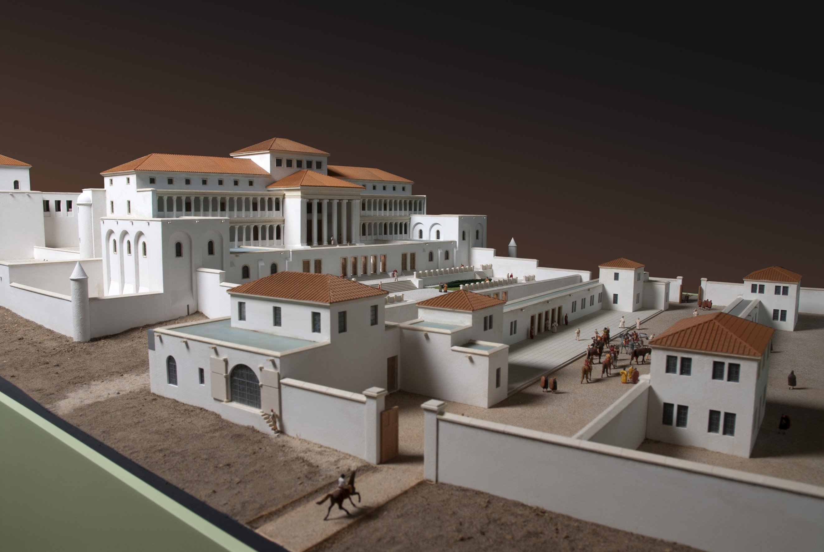 Une villa romaine pendant l'Antiquité
